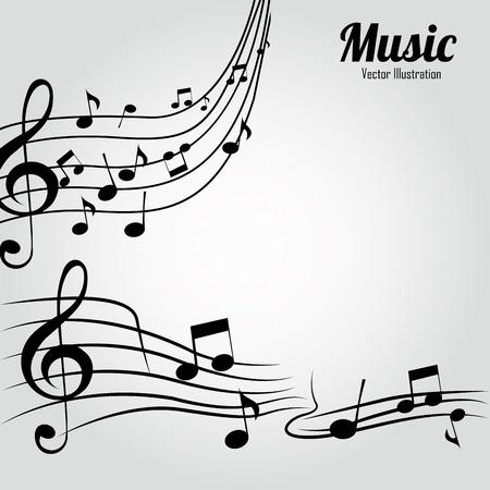 music score: music notes on music score on white background
