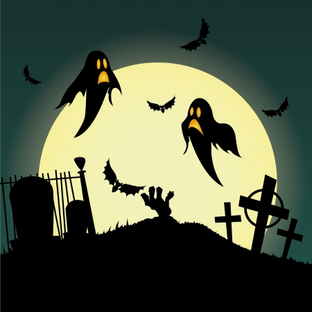abstract ghost silhouette on special halloween background
