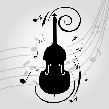 cello: Estratto violoncello silhouette su sfondo musica speciale