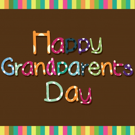 Happy Grandparents day special text on brown background