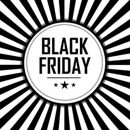 black friday label on special black and white background Vector
