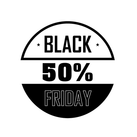 abstract Black Friday label on white background Vector