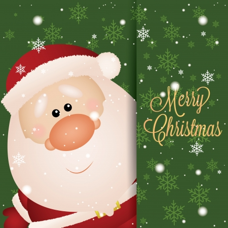 abstract cute santa claus on special green background Vector