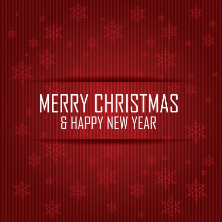 red scarf: Merry Christmas and happy new year text on special red background Illustration