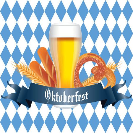 oktoberfest food: abstract oktoberfest food and drink on special background