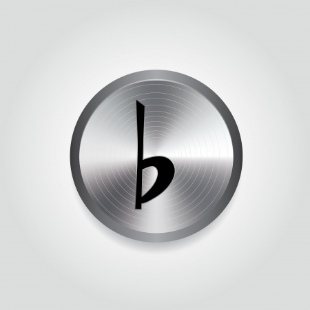 silver circle: abstract black music note on special silver circle