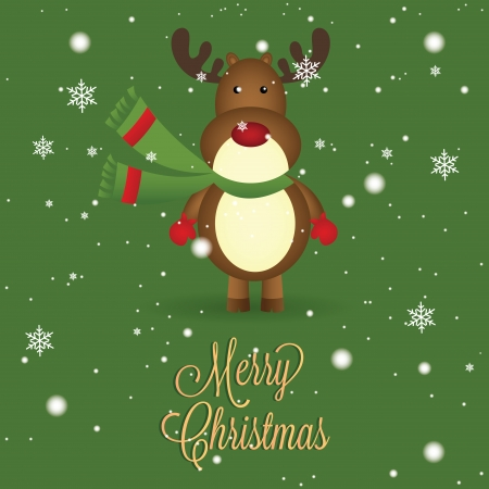 abstract brown reindeer on special christmas background