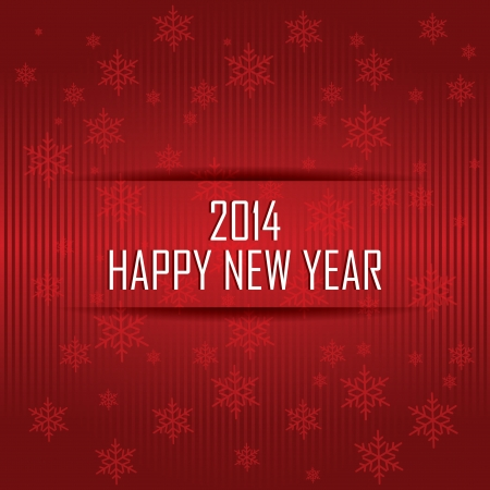 abstract happy new year text on special red background Vector