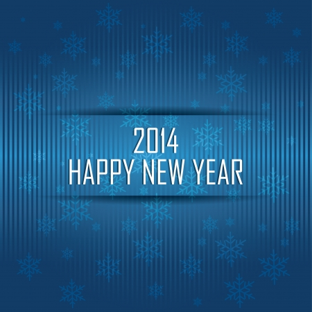 abstract happy new year on special blue background Vector