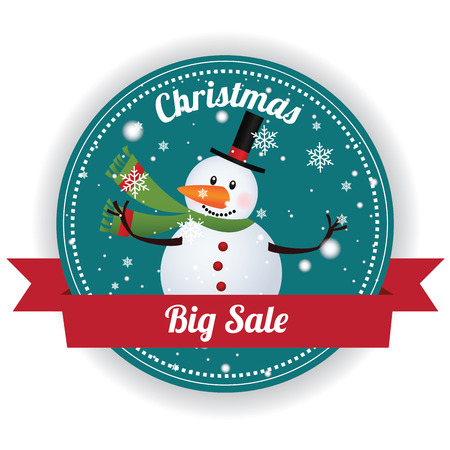Christmas big sale label on white background