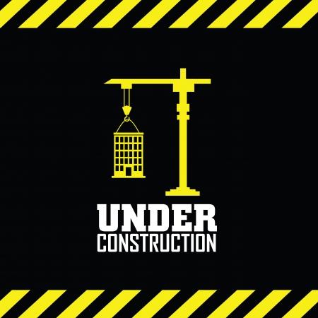 under construction symbol: abstract under construction symbol on special background Illustration