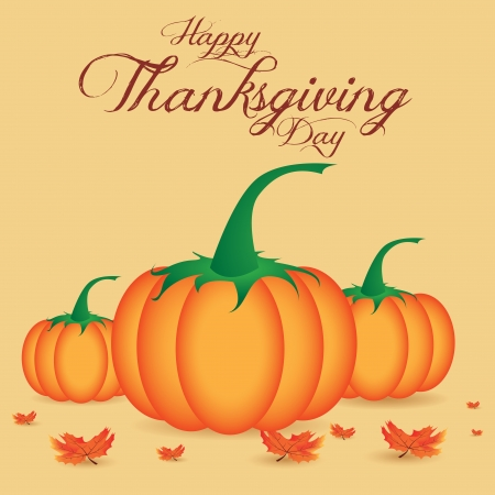 abstract cartoon pumpkin on special thanksgiving day background Vector