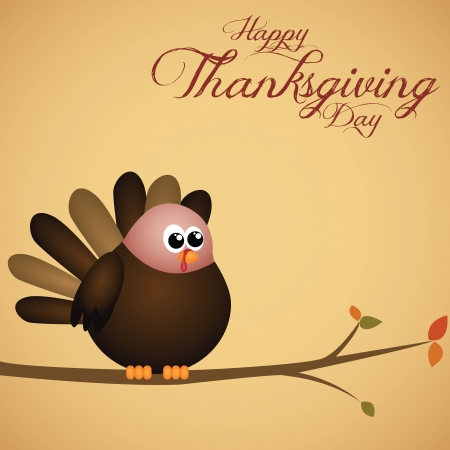 abstract cute turkey on special thanksgiving day background Vector