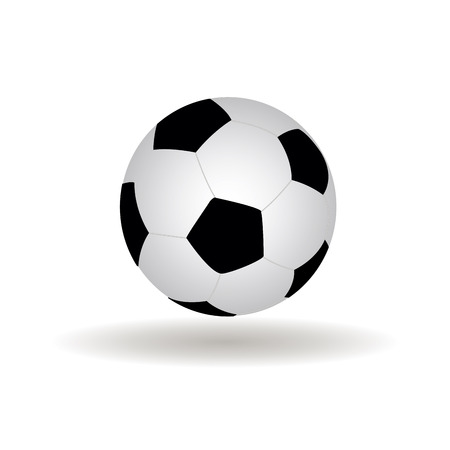 soccer coach: abstract soccer ball with shadow effect on white background Illustration
