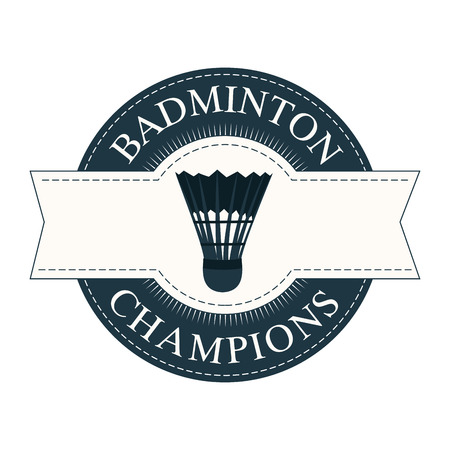 abstract badminton ball label on white background 向量圖像