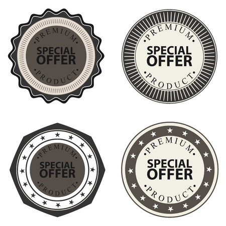 abstract special offer labels on white background Vector