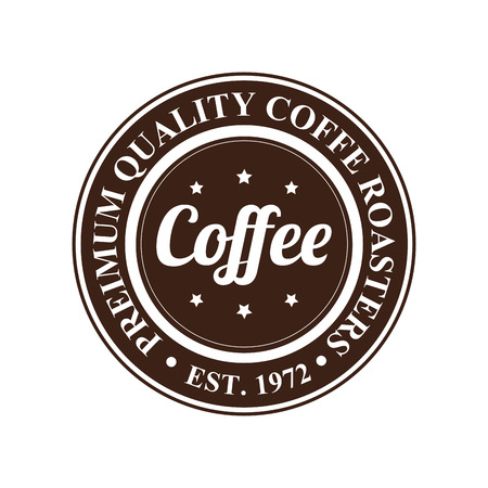 abstract premium coffee label on white background Vector