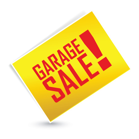 abstract garage sale label on white background