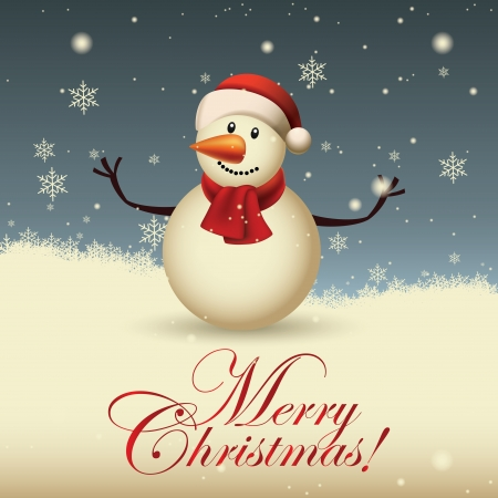 abstract cute snowman on special christmas background Vector