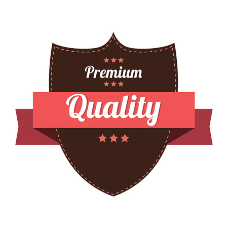abstract premium quality label on white background Vector