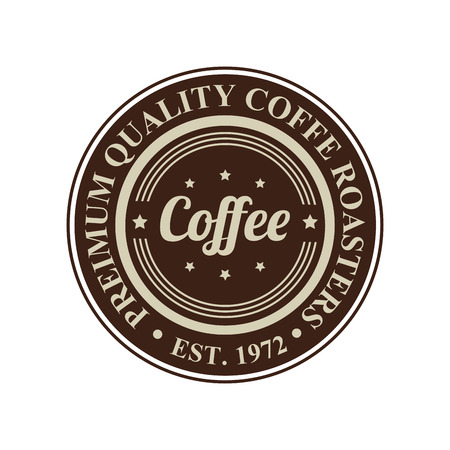 abstract special coffee label on white background Vector