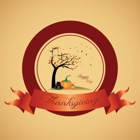 abstract thanksgiving day label on special background 向量圖像