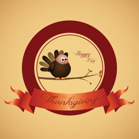 abstract thanksgiving day label on special background Vector