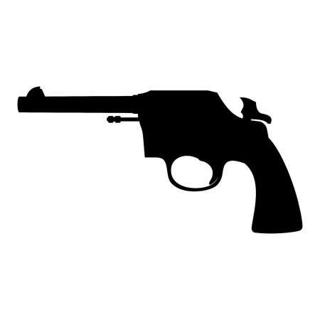 abstract pistol silhouette on a white background Illustration