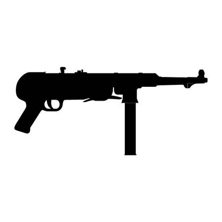 abstract machine gun silhouette on a white background