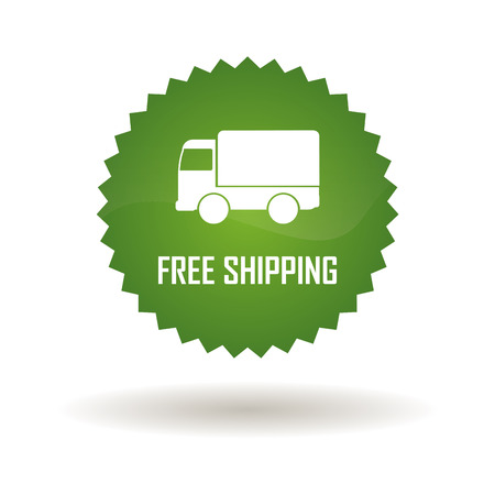 abstract green delivery label on white background Vector