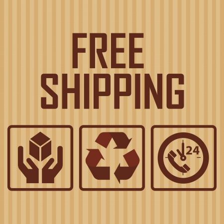 abstract delivery symbols on special brown background Vector