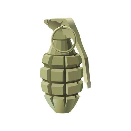 abstract vector grenade on a white background