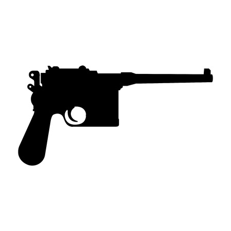 abstract pistol silhouette on a white background Vector