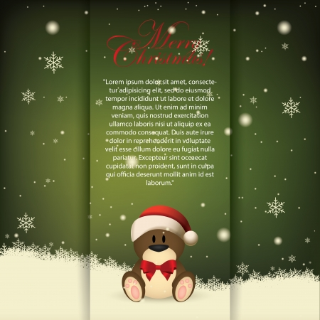 abstract merry christmas background with special objects Vector