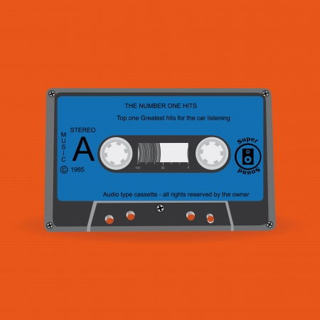 abstract special cassette on a special  Vector