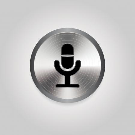 silver circle: simbolo astratto musica speciale su speciale cerchio d'argento Vettoriali