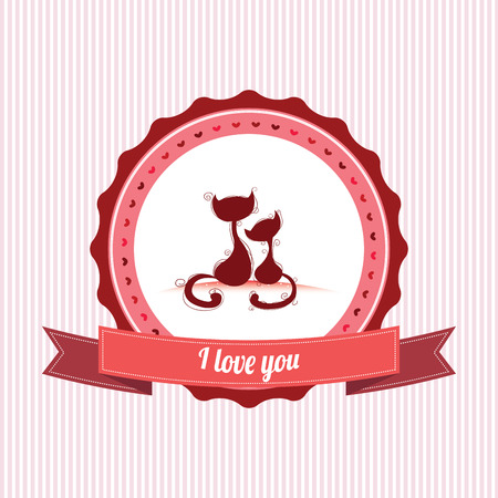 abstract special love label on white background Vector