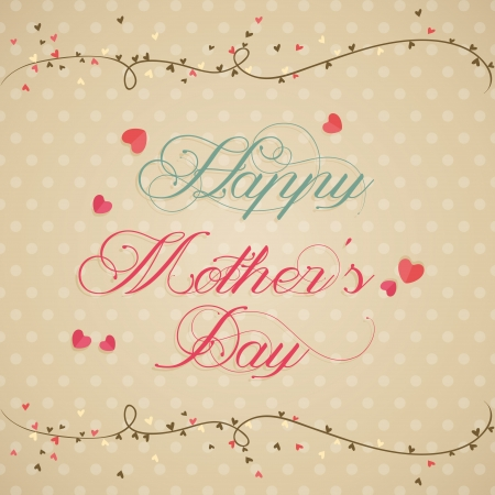 abstract happy mothers day text on special background Vector