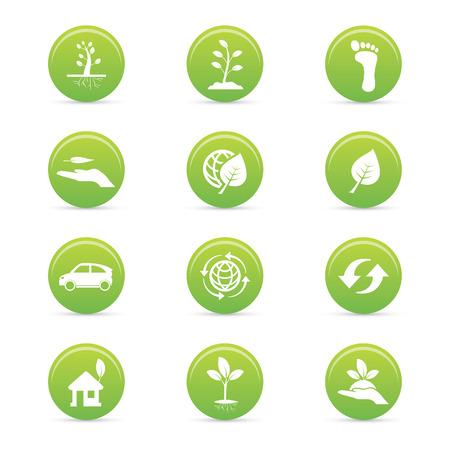 sostenibilit�: astratte sostenibilit� icone su uno sfondo bianco