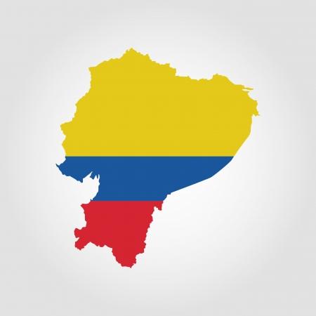 republic of ecuador: abstract Ecuador flag on a white background Illustration