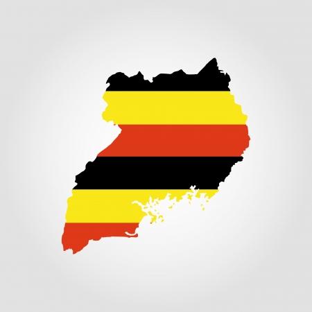 uganda: abstract Uganda Flag on a white background Illustration
