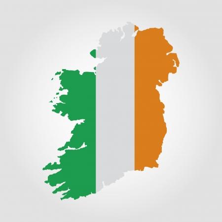 ireland flag: abstract Ireland flag on a white background