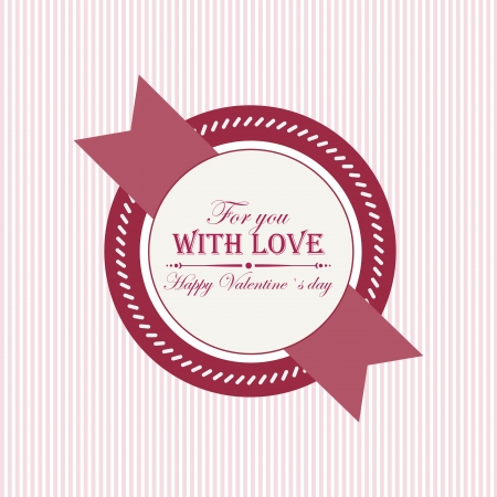 Abstract Happy ValentineS Day Label On A White Background Royalty