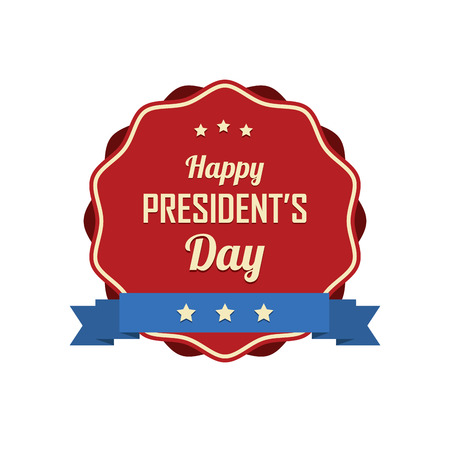 abstract presidents day label on a white background 向量圖像