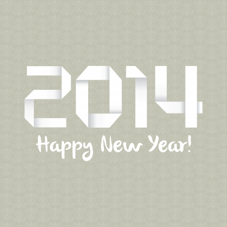 abstract happy new year text on special background Vector