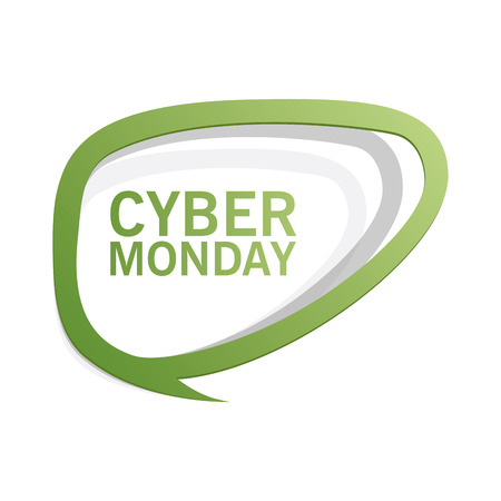 abstract cyber monday label on a white background Stock Vector - 24832110
