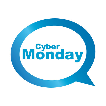 abstract cyber monday label on a white background Stock Vector - 24868787
