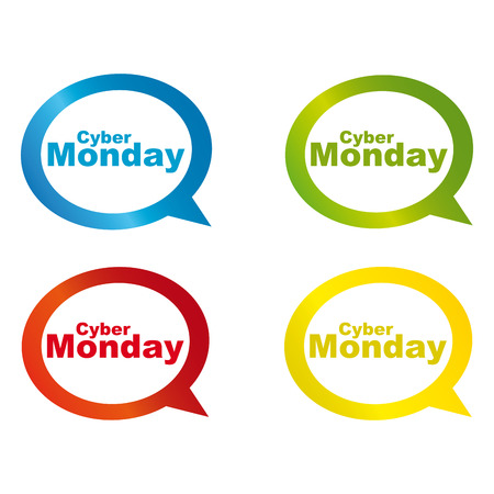abstract cyber monday labels on a white background Vector