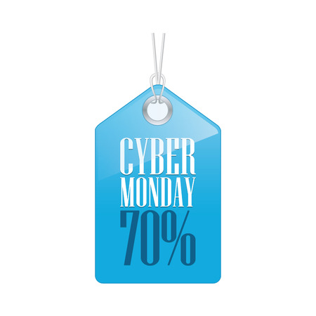 abstract cyber monday label on a white background Vector