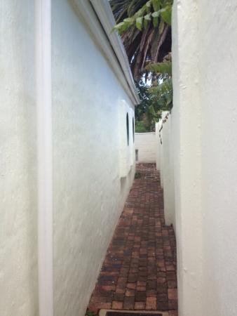 passageway: A long passageway  Stock Photo